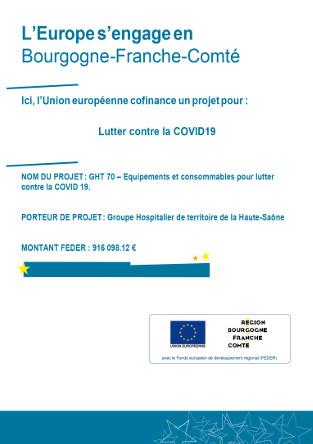 Le GH70 obtient une subvention de 916 000 € dans le cadre de la mobilisation des hôpitaux face à la crise COVID-19